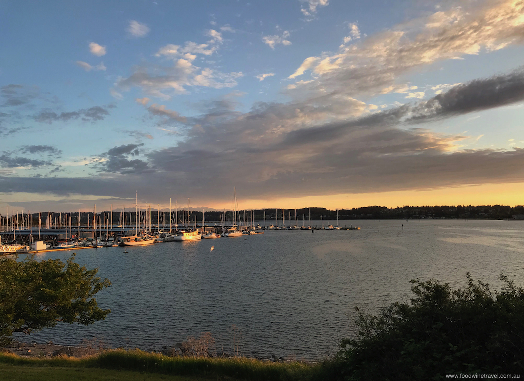 Sunset at the Oak Harbor Yacht Club