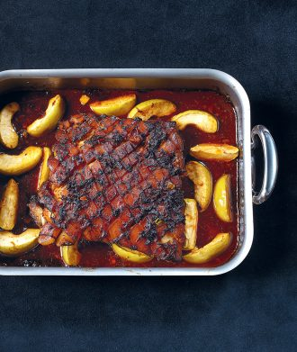Pork Belly With Apples And Soy Recipe from One Knife One Pot One Dish by Stéphane Reynaud