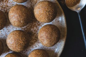 Gingerbread Cookie Dough Bliss Balls, from Wholefood Simply, by Bianca Slade