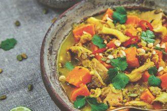 Farmacy Kitchen Cookbook Sweet Potato Mushroom Curry Camilla Fayed