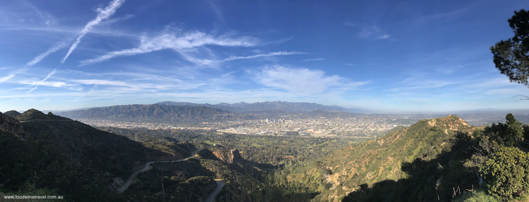 West Hollywood Sunset Hike Panorama of valley