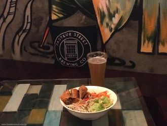 Noodle Dish Pasteur Street Brewing Company Craft Beer in Vietnam