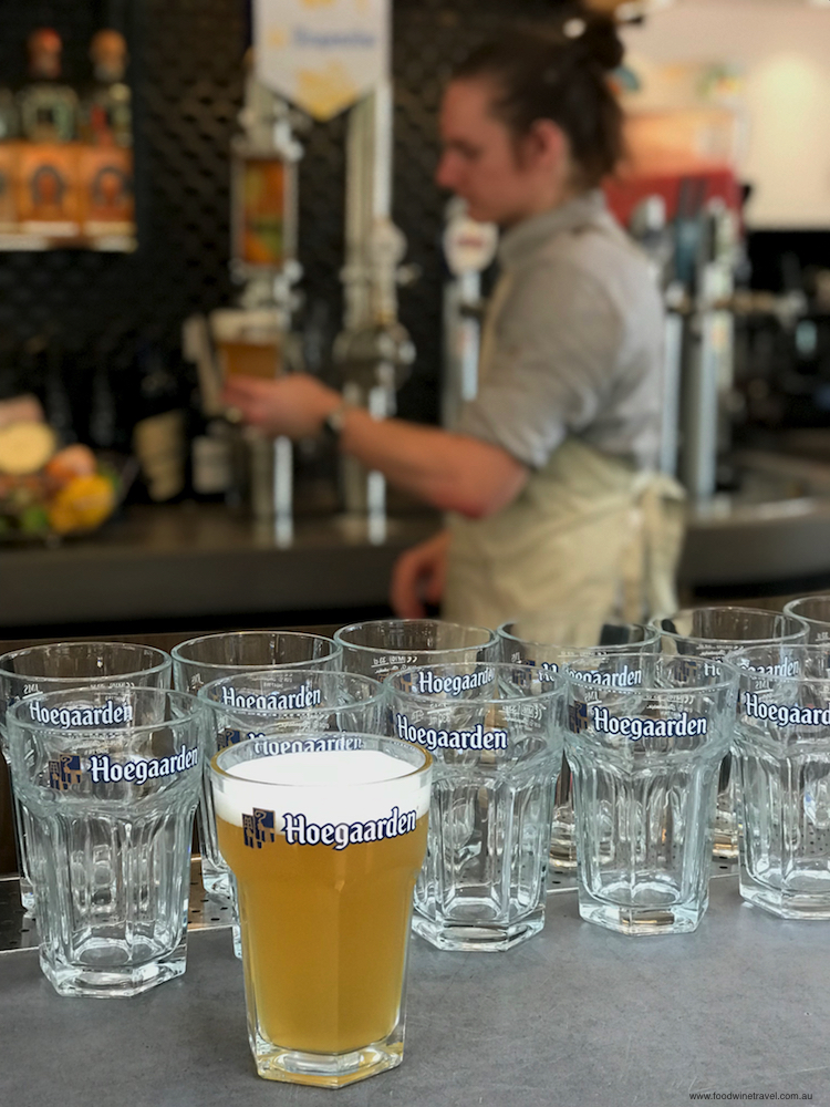 Hoegaarden's new infusion tower at the Osbourne Hotel.
