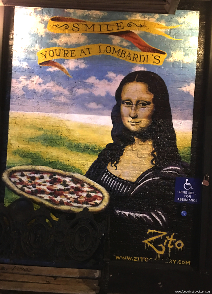 Lombardi's iconic restaurant in Little Italy, New York