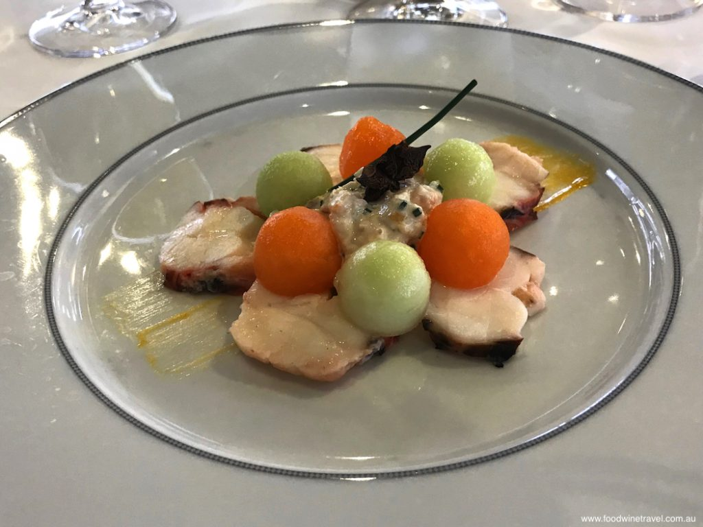 Regent Seven Seas Cruises, Seven Seas MarinerLobster and melon appetiser