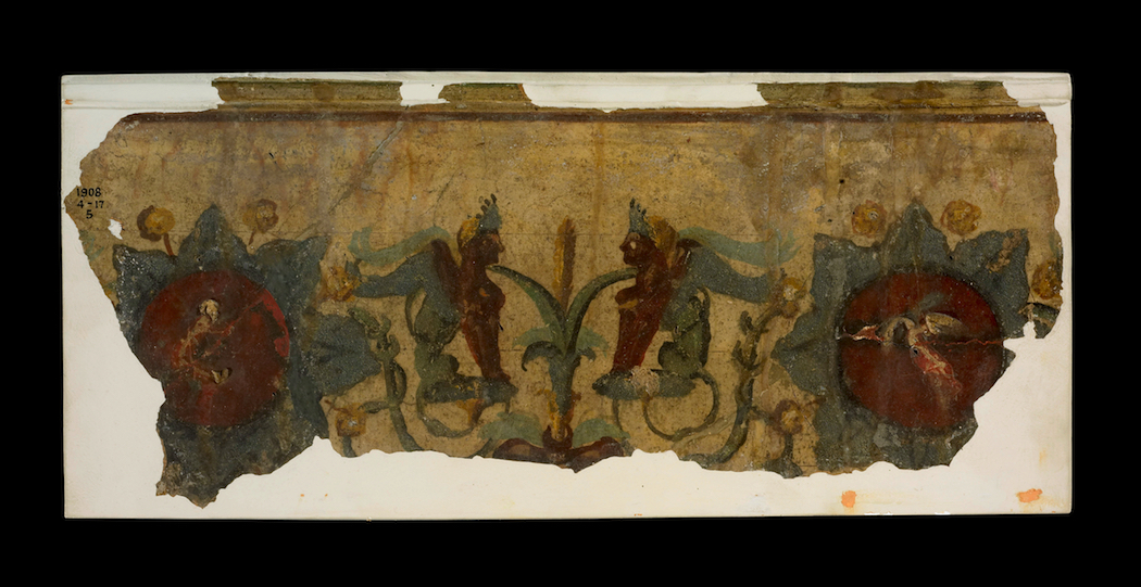 Rome City and Empire Fragment of gilding wall painting, National Museum of Australia