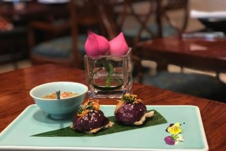 Vietnam House Butterfly Pea Flower sticky rice dumplings