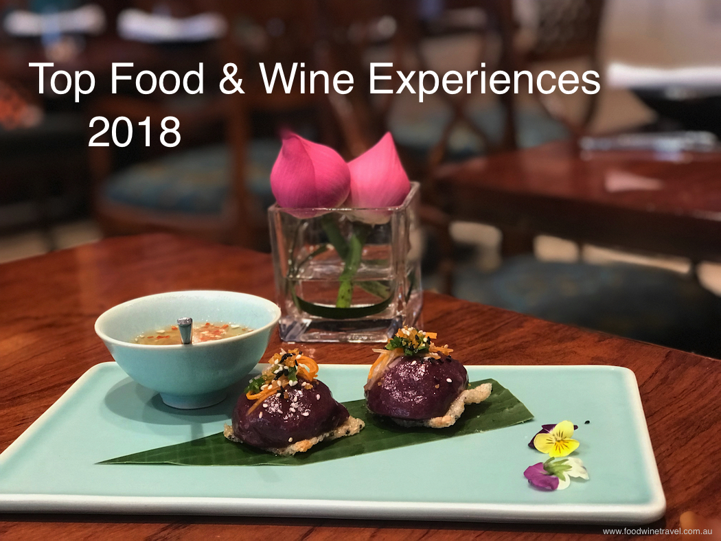 Top Food & Wine Experiences in 2018 Vietnam House Butterfly Pea Flower sticky rice dumplings