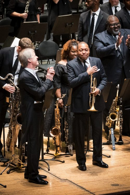 The Sydney Symphony and Jazz at Lincoln Center Orchestra 10_Wynton Marsalis, Conductor David Robertson_Credit Tim Skinner-imp