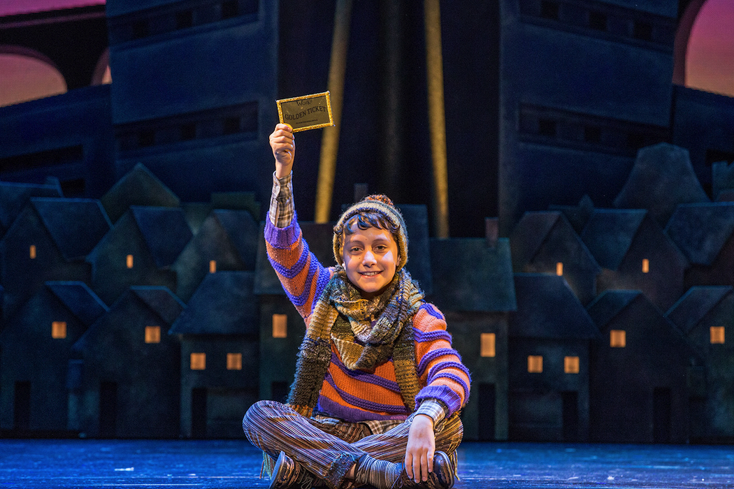 Oliver Alkhair as Charlie in Charlie and the Chocolate Factory (c) Jeff Busby