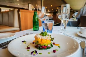 Captain Cook Cruises Avocado Mango and Crab Tower Sydney Harbour Gold Lunch
