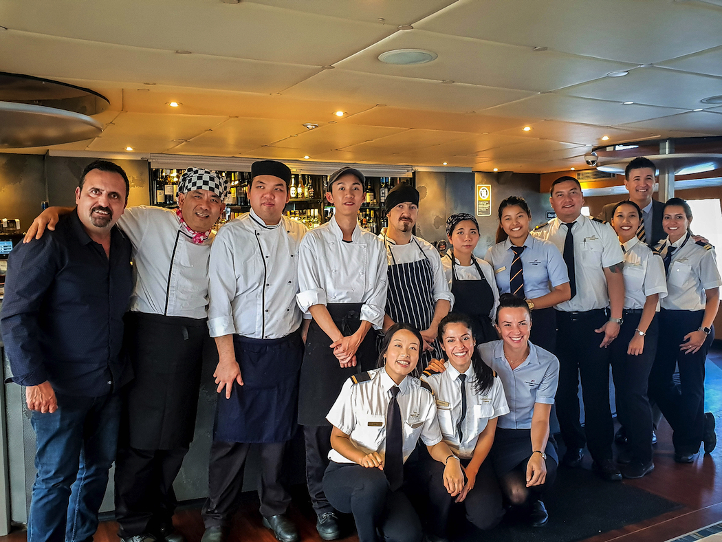 Captain Cook Cruises Gold Lunch crew