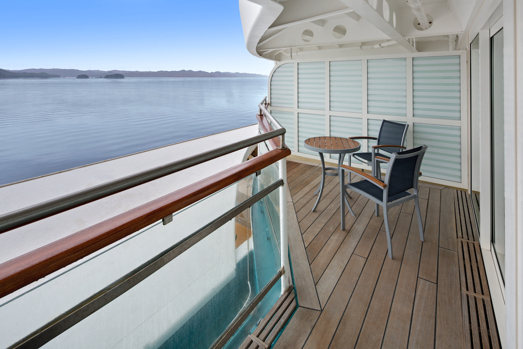 Accessible Deluxe OceanView Stateroom w/Balcony Cat. E3 - Balcony - Room #7114 Deck 7 Aft Portside Radiance of the Seas - Royal Caribbean International