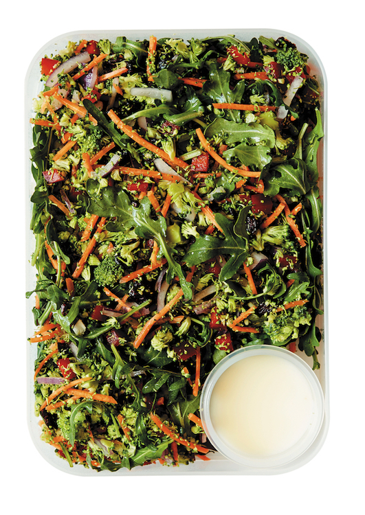 The 5 Minute Salad Lunchbox, recipe for Broccoli Rice, Carrot & Cranberry Salad With Buttermilk Dressing