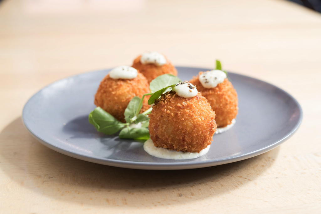 Osbourne Hotel Fortitude Valley Ham and cheese croquettes with jalapeño aioli