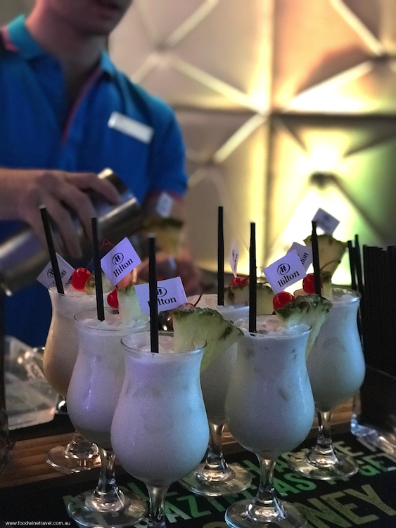 Hilton 100th Birthday Pina Colada Cocktails