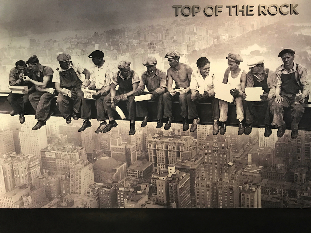 Men on the Beam Iconic New York photo