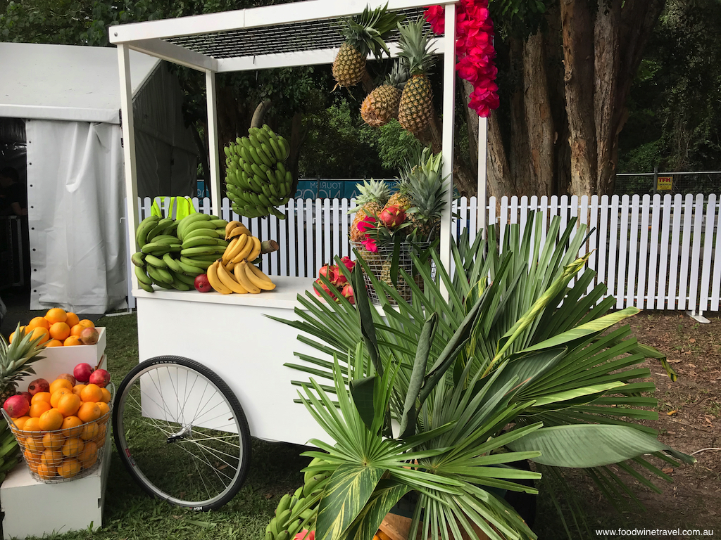 Noosa Food and Wine Festival Festival Village fruit cart