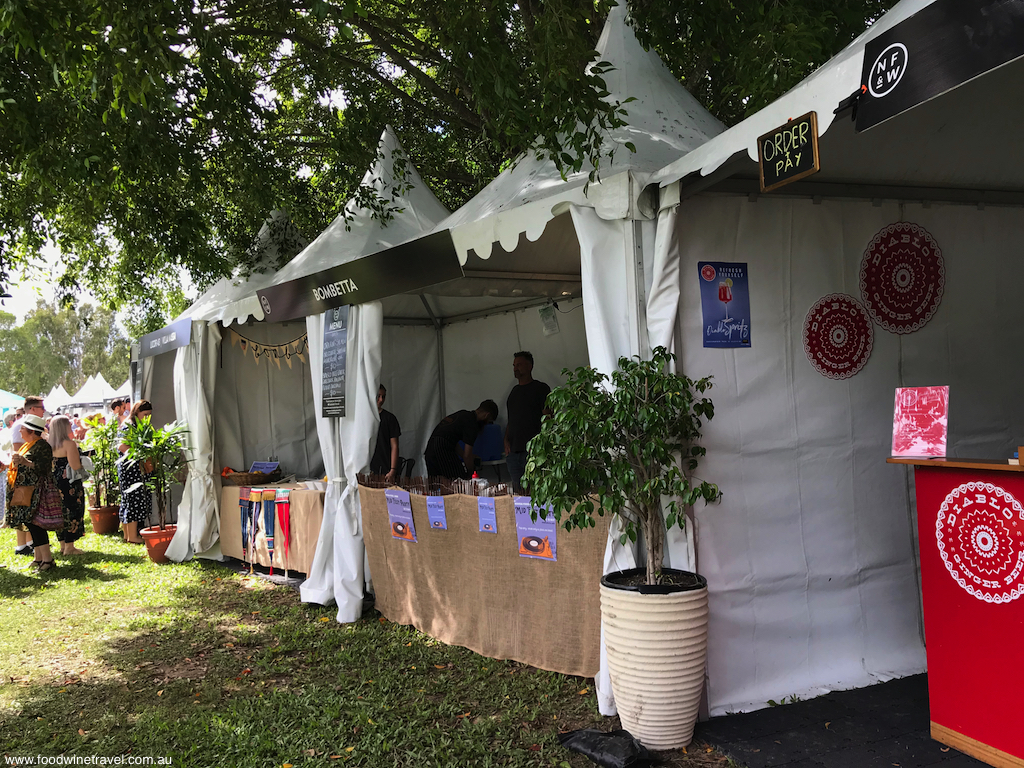 Noosa Food and Wine Festival Festival Village stalls