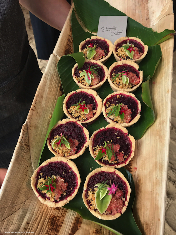 Noosa Food and Wine Festival Well Nourished Brunch Beetroot Tartlets