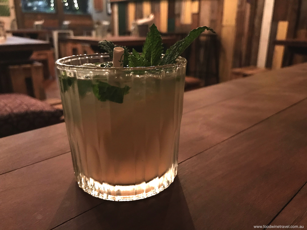 Mountain Wallflower is a blend of Limoncello, gin,  lime and fresh mint, topped with traditional lemonade.