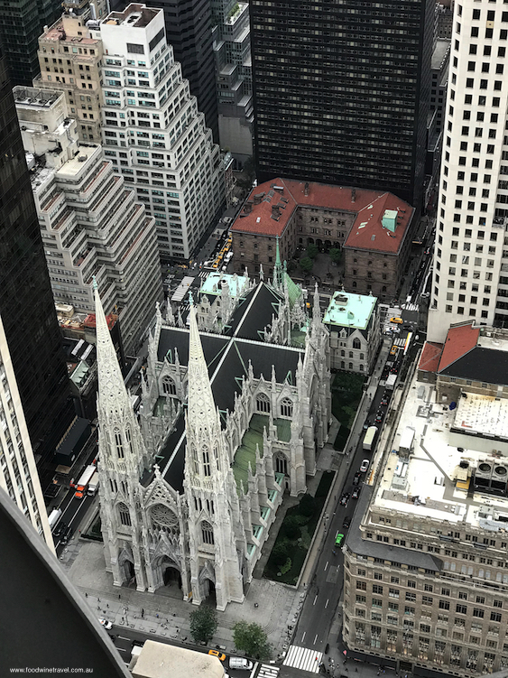 St Patrick's Cathedral as seen from Top of the Rock.