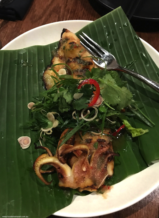 Nu Bambu Sydney Squid Robata grilled whole squid green nahm jim and lime