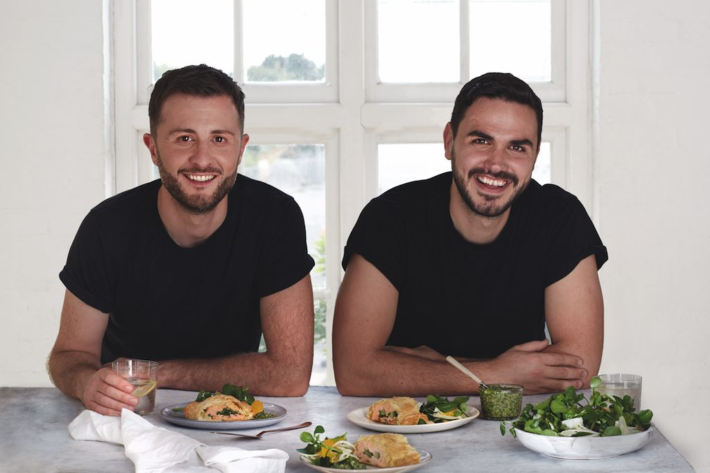 Vegan cookbook authors Henry Firth and Ian Theasby, of Bish Bash Bosh