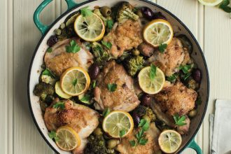 Crispy Chicken with Olives and Lemon, from The Keto All Day Cookbook.