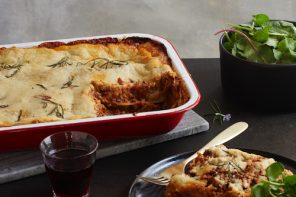 Recipe for vegan Classic Lasagne from Bish Bash Bosh, by Henry Firth and Ian Theasby.