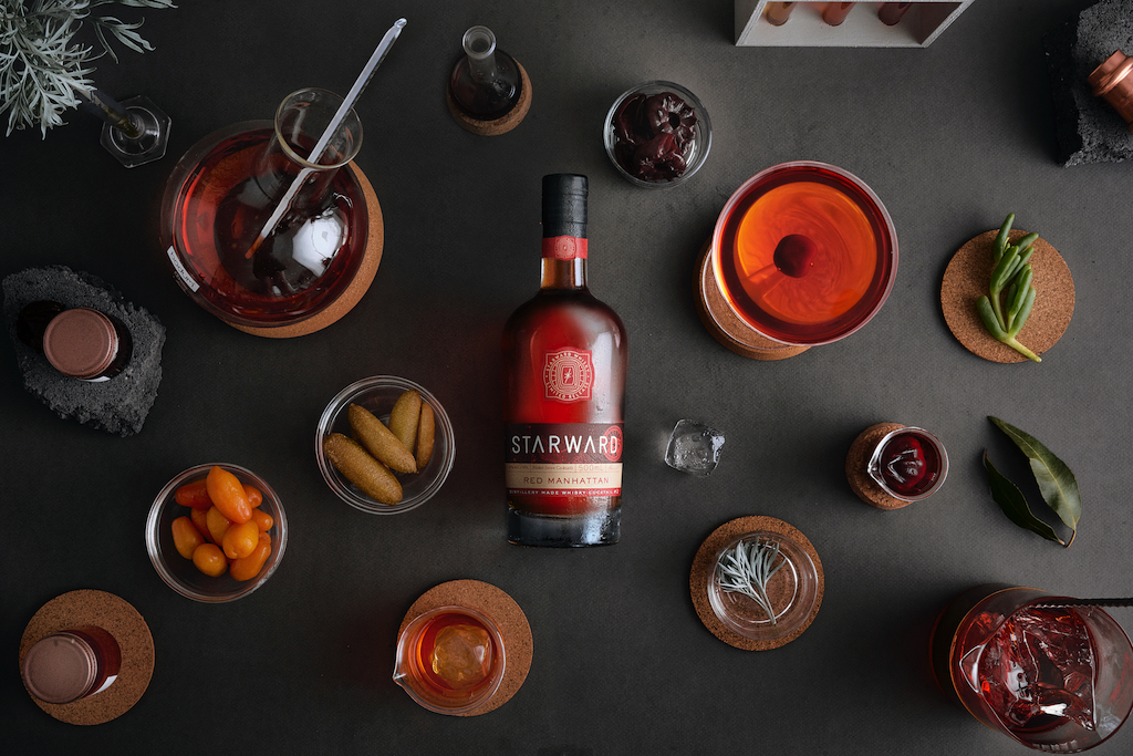 Starward Red Manhattan is a classic Manhattan cocktail re-imagined with an Australian twist.