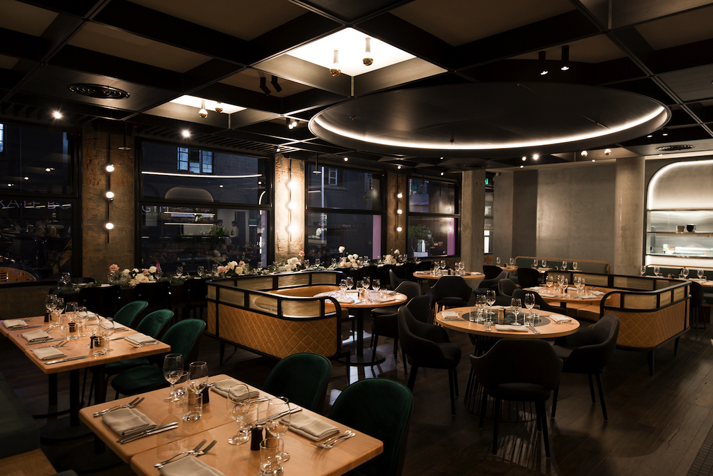 The main dining room looks out over Alfred and Brunswick Streets.