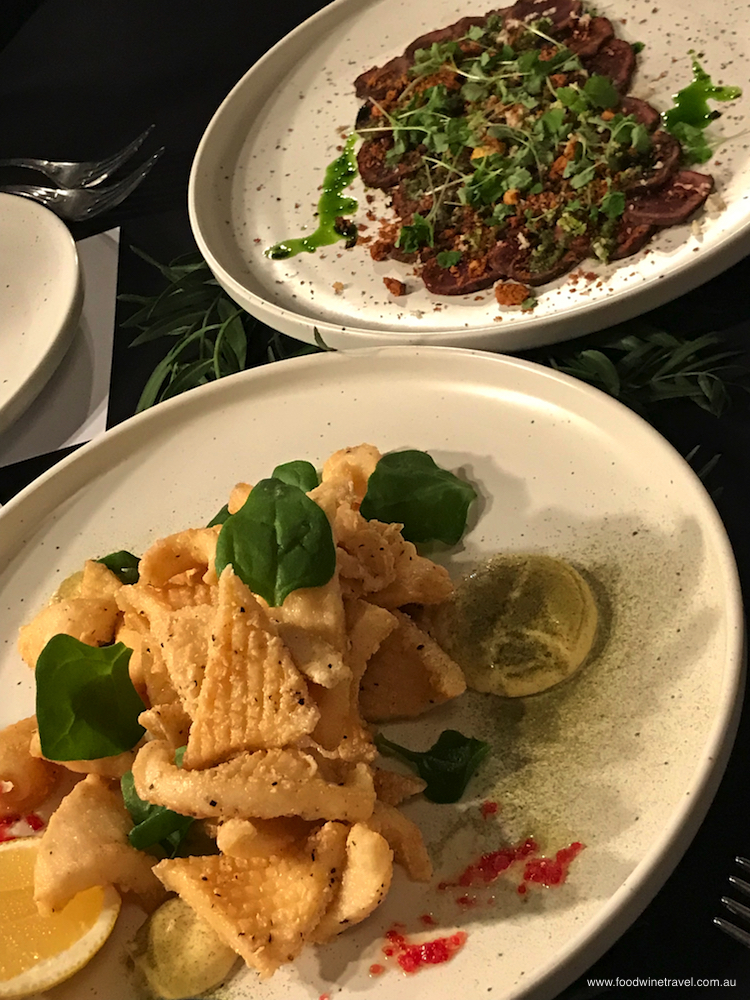 The tenderest calamari, served with lemon myrtle aioli and finger lime.