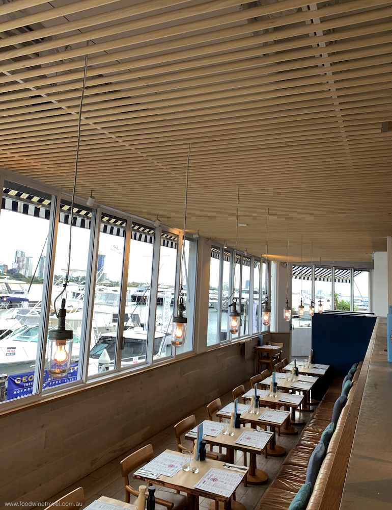 King Crab Co has a casual vibe and great views of the marina.