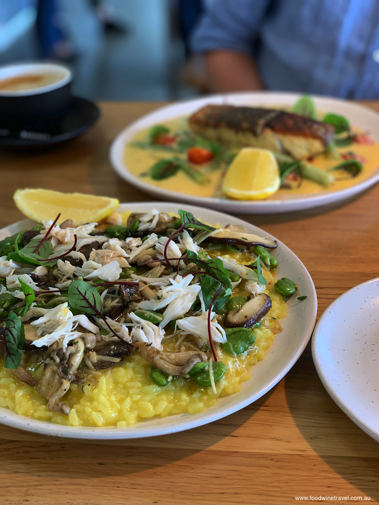 Saffron rice risotto with spanner crab is a recent addition to the King Crab Co menu.