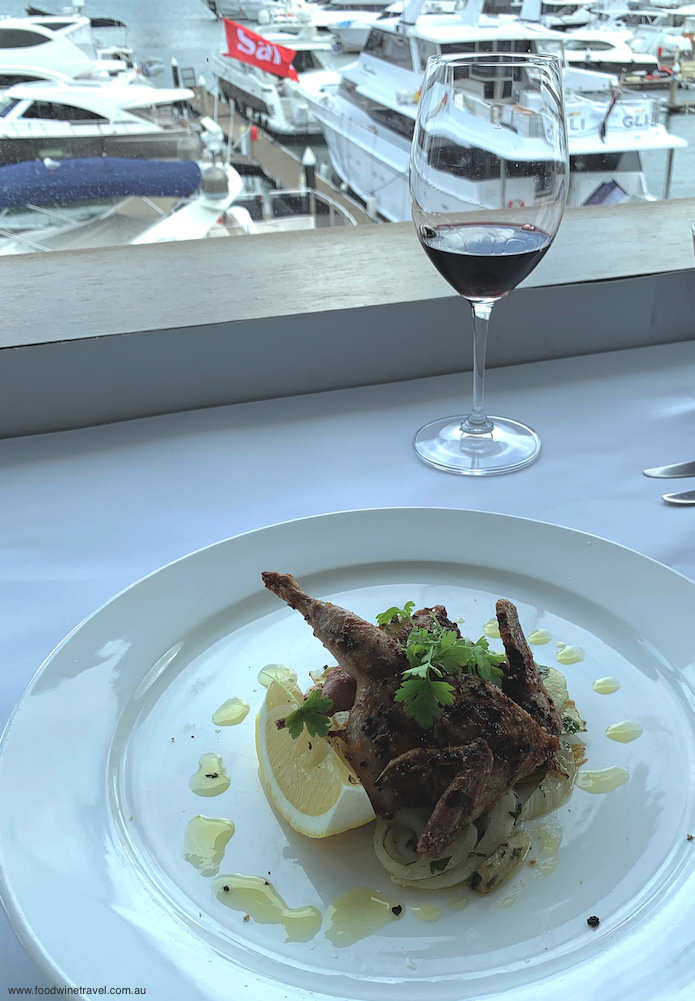 Chargrilled quail on a warm artichoke and fennel salad.