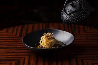 Bacchus Restaurant Rydges Hotel Brisbane Chitarra with Shiitake Broth