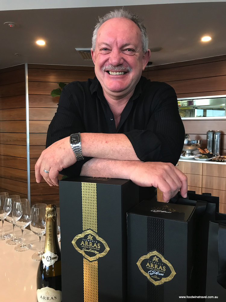 Ed Carr, the only non-Champenois winemaker to ever receive a Lifetime Achievement Award at the Champagne & Sparkling Wine World Championships.