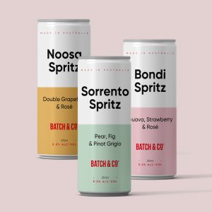 Melbourne's Batch & Co has produced a wine-based Spritz range in sleek cans.
