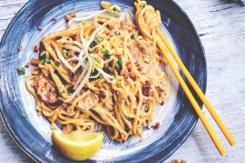 Pork and Peanut Butter Hokkien Noodles, easy to whip up on a weeknight.