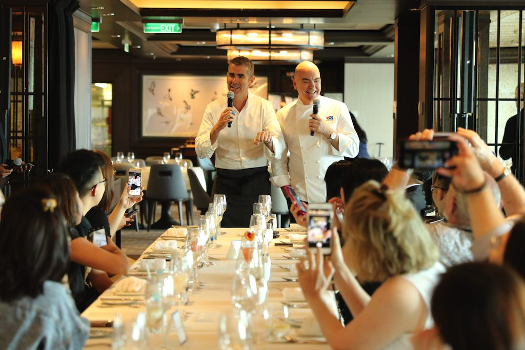 Chefs Shane Osborn and Mark Best present their outstanding menu on board Genting Dream.