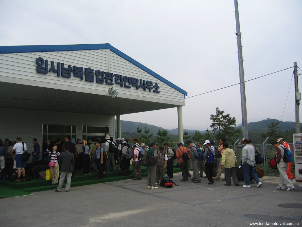 North Korea queuing for the border crossing