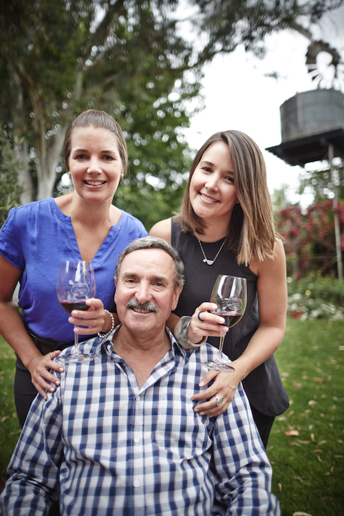 Brown Brothers' Ross Brown with Katherine and Caroline.