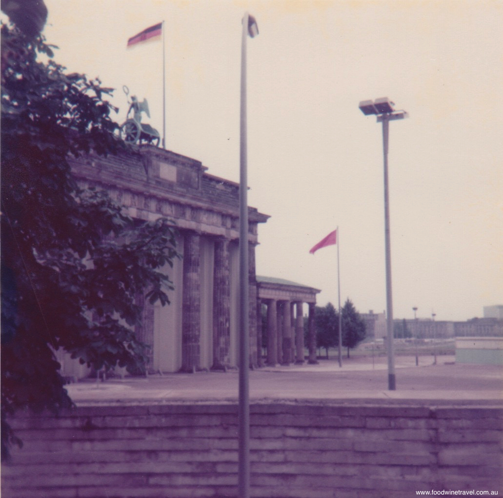 The Brandenburg Gate as it was in 1977, behind the wall, in a city divided.