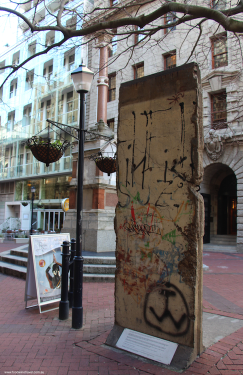 where can you find pieces of the Berlin Wall? section of the Berlin Wall in Cape Town