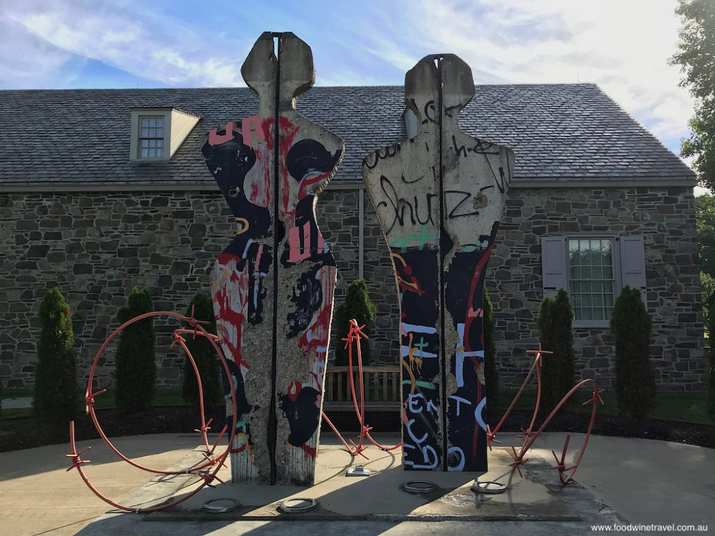 Break Free, a sculpture in Freedom Court at The Home of Franklin D. Roosevelt National Historic Site, USA.  It was created from sections of the Berlin Wall by artist Edwina Sandys, granddaughter of Winston Churchill.