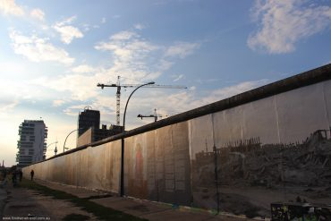 where can you find pieces of the Berlin Wall?