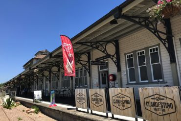 Gympie's beautifully restored railway station, now home to Platform No.1 Cafe.
