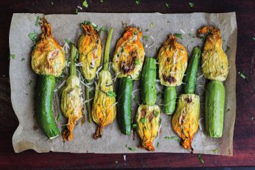 What ingredients are included in a Mediterranean diet? Recipe for Stuffed Zucchini Flowers