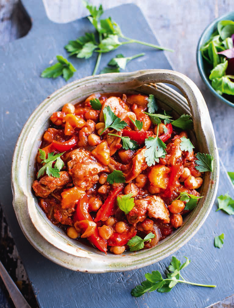 Easy Chicken Tagine, from The Fast 800 Recipe Book by Dr Claire Bailey.